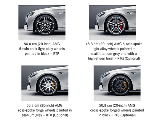 Alloy options for Mercedes-AMG E 63 S 4MATIC+