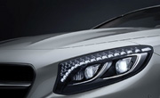 mercedes coupe cars feature - LED intelligent light system