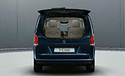 Mercedes Benz V class feature - Separately opening rear window
